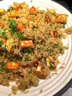 Pulao is usually my go-to dish when I am running short of time or I cannot think of what to make for dinner. This Paneer Pulao,made with a special pulav mas...