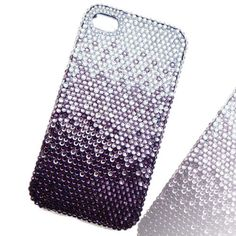 Handmade Stunning Bling Crystal Cover, iphone 4,4s case, Cell phone cover, Purple Swarovski Crystal Phone Cover, Rhinestone Case Accessories. $19.99, via Etsy.