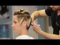 Pixie razor cut by Milan @ Head Office - YouTube