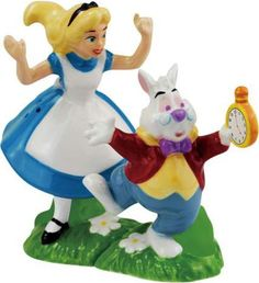 Alice in Wonderland - Alice & White Rabbit - Salt & Pepper Shakers - Westland Giftware   OLDIES.com