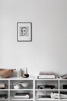 Design Home Scandinavian Shelves 56 Ideas Inspiration Wand, Decoration Inspiration, Interior Inspiration, My Living Room, Home And Living, Living Spaces, Blue Bedding, Linen Bedding, Bedding Sets