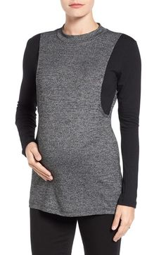 LAB40 'Brie' Colorblock Maternity/Nursing Sweater available at #Nordstrom