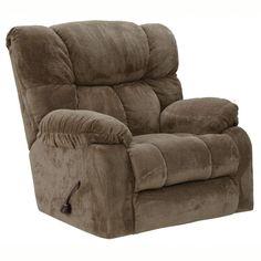 Catnapper Popson Extra Comfort Chaise Rocker Recline in Mocha