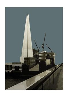 London - Shard (Soft Blue/Grey) 2016  Limited Editions & Special Gallery Edition - Big Fat Arts | BFA Gallery | Czar Catstick - 4