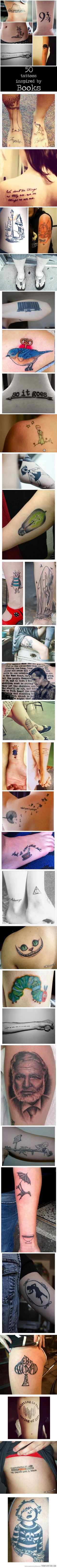 Tattoos Inspired By Books…