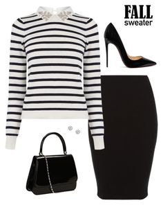 """Sophisticated Sweater"" by sunshine-sole ❤ liked on Polyvore featuring Oasis and Christian Louboutin"