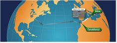 March 30th Casablanca  to Bone Statue Miles 902.70 Flight Time 6 hours  See more at Fly38Charlie