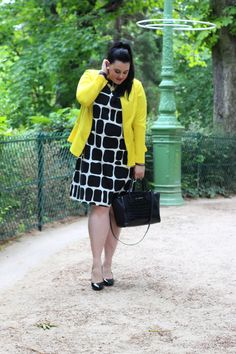 Anaïs Pénélope - Plus-size fashion blog: Yellow graphic