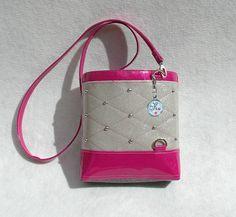 White & Pink Glitter Vinyl Crossbody Bag by KwaintAccessories Glitter Vinyl, Pink Glitter, Handmade Handbags, Perth, Crossbody Bags, Purses And Bags, Shoulder Bag, Vegan, Unique Jewelry