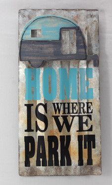 Home is Where We Park It Tin Sign