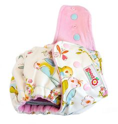 Lovebirds One-Size Fitted Diaper
