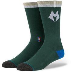 Milwaukee Bucks Stance Arena Logo Crew Socks - Hunter Green