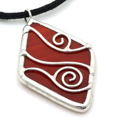 Deep red. $20, made to order.