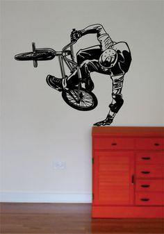 BMX Biker Version 5 Design Sports Decal Sticker Wall Vinyl