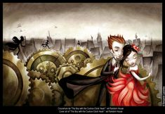 "Benjamin Lacombe - Covert-art from ""The Boy with the Cuckoo-Clock Heart"". Ed.: Random House"