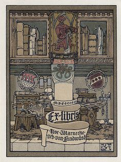 [Bookplate of Gise Warnecke geb von Landwust] by Pratt Institute Library, via Flickr