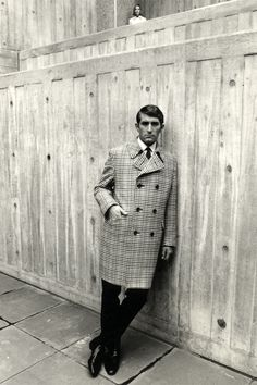1968: Burberry outerwear advertising campaign, shot at London's newly opened Hayward Gallery