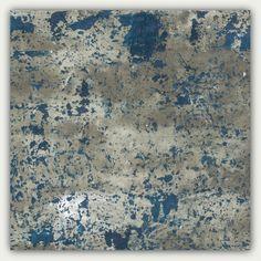 Muur kunst grote abstracte schilderkunst teal door studioARTificial