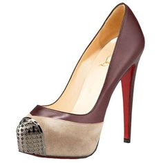 Christian Louboutin Maggie Leather Pumps 140mm Leather Sepia