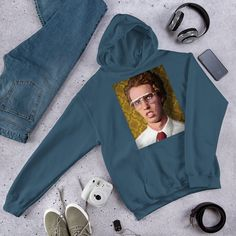 Everyone needs a go-to, cozy sweatshirt to curl up in, so go for one that's soft, smooth, and stylish. Napoleon Dynamite, Rib Knit, Hooded Sweatshirts, Hoods, Rain Jacket, Windbreaker, Athletic, Stylish, Cotton