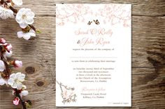 Appleberry Press, Stationery worth the paper it's printed on. The 'Cherry blossom' invitation from Appleberrry Press!