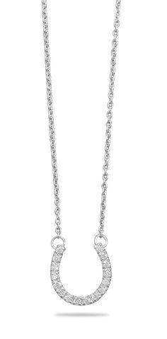 """16"""" CZ Horseshoe Necklace"""