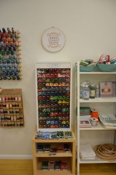 organized sewing supplies