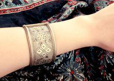 Afghan bracelet Afghan jewelry old afghan bracelet by CarmelaRosa