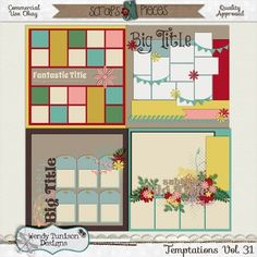 Temptations Vol. 31 {CU/PU/S4O/S4H) by Wendy Tunison Designs found at Scraps N Pieces