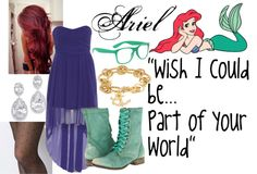 """Hipster Ariel"" by lightning4350 on Polyvore"