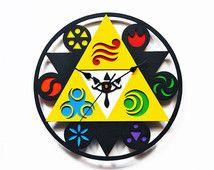 Reloj de pared de Legend of Zelda. Elementos, Sheik. Nintendo, juego…