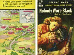 """Delano Ames """"Nobody Wore Black"""" Dell Mapback #579; 1952 Bought 5/1/13"""
