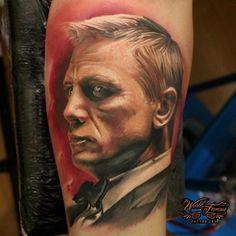 #tattoo #jamesbondtattoo #007tattoo #inked #inkart #tattooart #tattoolife #tattoolove #tattoopassion #tattooinspiration #tattocommunity #lamoglietatuata