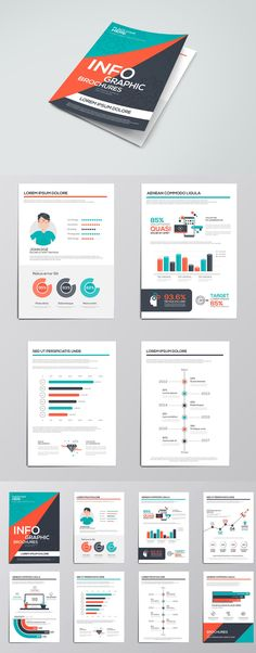 Business Infographics Elements For Brochures. Template AI, EPS