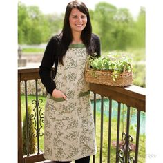 leaf print apron * which i would wear when gardening?