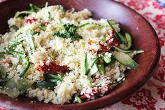 Couscous with Zucchini & Sundried Tomato - aninas-recipes.com