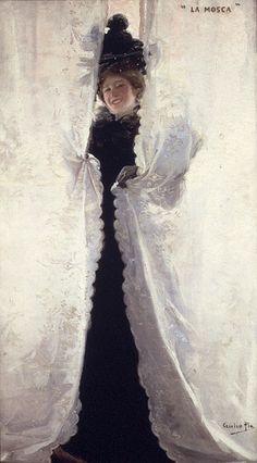La Mosca by Cecilio Pla y Gallardo (spanish (1860 - 1934);  oil on canvas; private collection.
