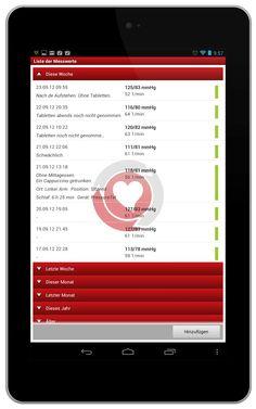 BlutdruckBegleiter: Liste der Messwerte  https://play.google.com/store/apps/details?id=de.medando.bloodpressurecompanion