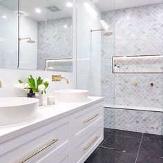 In exciting news, our family bathroom has gone viral! We couldn't love it more and are thrilled you do, too. Thanks to our gorgeous Insta family for loving and supporting us so much. Hall Bathroom, Family Bathroom, Bathroom Renos, Laundry In Bathroom, Simple Bathroom, Bathroom Interior, Master Bathroom, Bathroom Remodelling, Bathroom Ideas