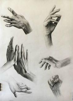 Study of hands, charcoal-bianca paraschiv art charcoal sketch, charcoal art, charcoal Anatomy Sketches, Anatomy Drawing, Anatomy Art, Drawing Sketches, Art Drawings, Drawing Ideas, Body Sketches, Pencil Drawings, Charcoal Sketch