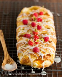 Peach & cream cheese braided danish (Made easy with a step-by-step video tutorial). @NatashasKitchen