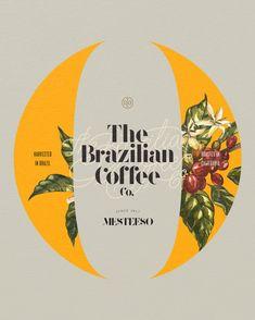coffee logo The Brazilian Coffee Co. Coffee Typography, Flower Typography, Coffee Logo, Coffee Poster, Typography Design, Coffee Cup, Food Poster Design, Graphic Design Posters, Graphic Design Inspiration