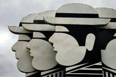 Yannis Gaitis  (1923 - 1984) Greek Art, Holy Ghost, Charity, Shapes, 1984, Illustration, Animals, Window, Display