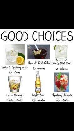 Good choices for alcohol