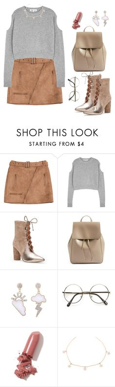 """""""Sun and Stars"""" by valeriatonks ❤ liked on Polyvore featuring McQ by Alexander McQueen, Sigerson Morrison, Sole Society and LAQA & Co."""