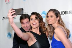"Priscilla Faia Photos Photos - Greg Poehler, Rachel Blanchard and Priscilla Faia attend the DirecTV ""You Me Her"" Premiere on March 22, 2016 in New York City. - DirecTV 'You Me Her' Premiere"