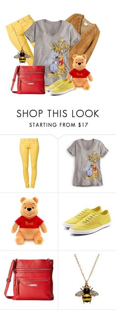 """""""Winnie the Pooh"""" by domino-80 ❤ liked on Polyvore featuring Cheap Monday, Band of Outsiders, Franco Sarto and Kenneth Jay Lane"""