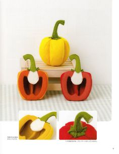 Handmade Felt Veggies Japanese craft book by MeMeCraftwork