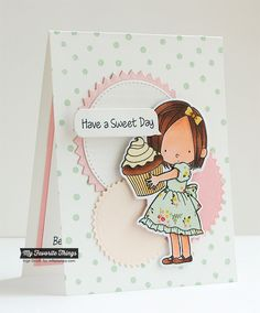 Sweet Birthday Wishes stamp set and Die-namics, Confetti Background, Pinking Edge Circle STAX Die-namics, Stitched Circle STAX Die-namics - Inge Groot #mftstamps