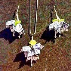 visit us @mirthmarvele17  Sat 7th May for these really unusual #handmade #origami earrings #craft #shoplocal #e17designers @gillisflowers
